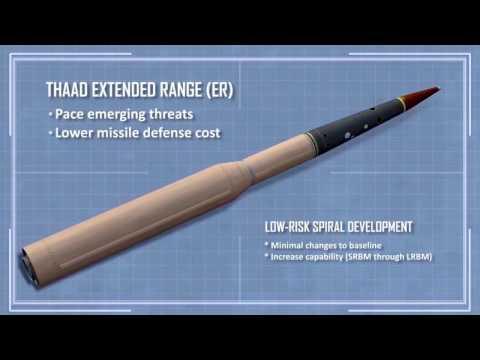 Lockheed Martin   THAAD Extended Range Hypersonic Ballistic Missile Defence System Simulation 720p