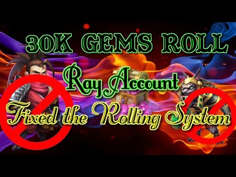 Castle Clash Rolling 30K Gems On Ray Account Again!!_ IGG Fix The Rolling System