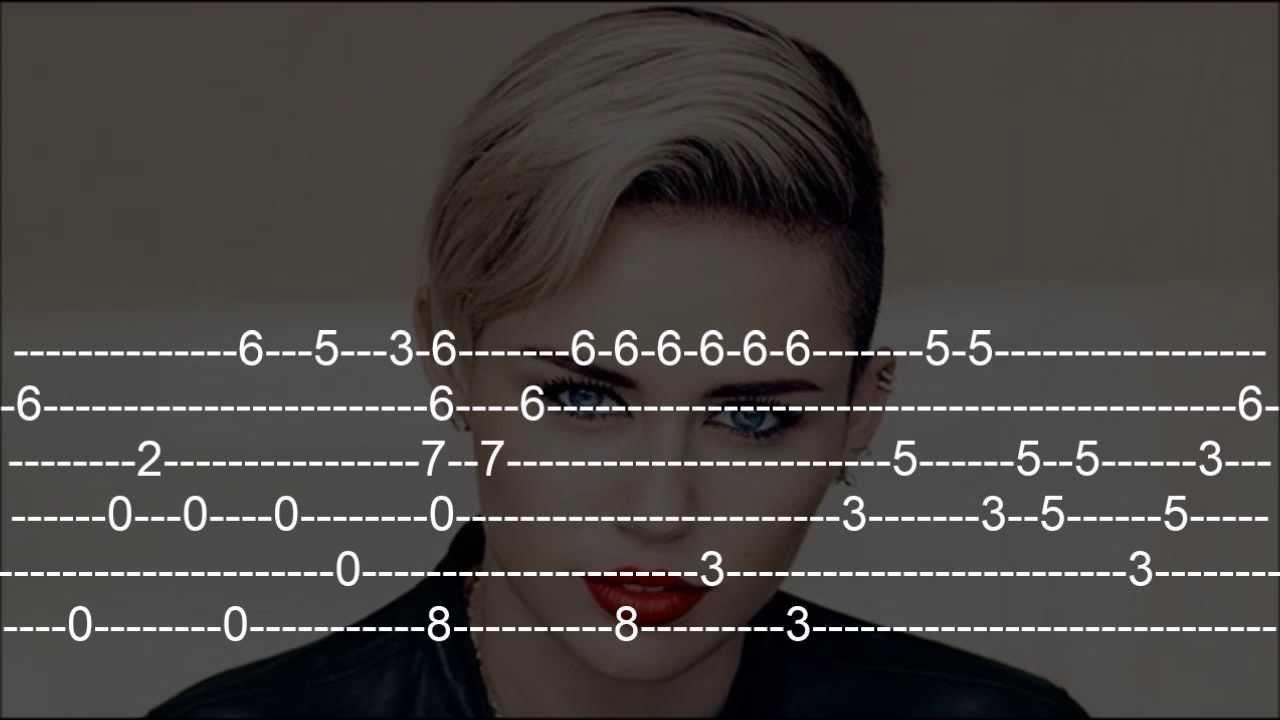 Miley Cyrus Wrecking Ball Guitar Tab Youtube