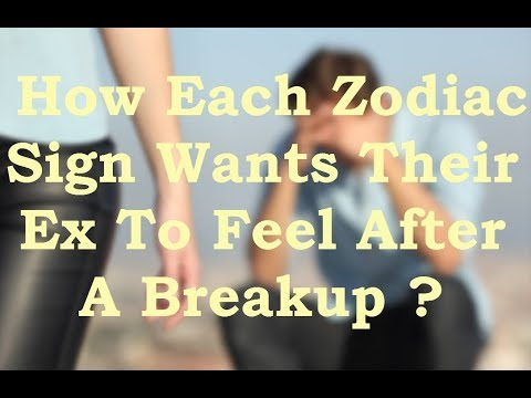 How know each zodiac sign over his ex