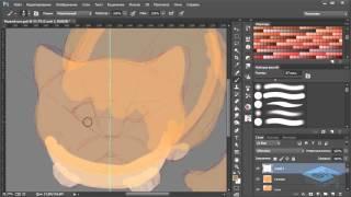 Рисуем рыжего кота в Фотошоп – Часть 1