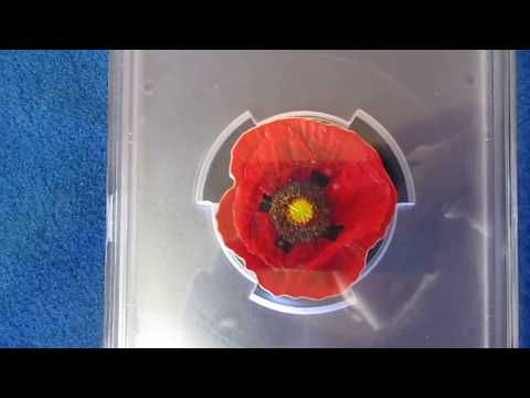 2017 $5 Cook Islands Remembrance Poppy Papaver .999 Silver 1 oz Coin Collecting 2500 Mintage
