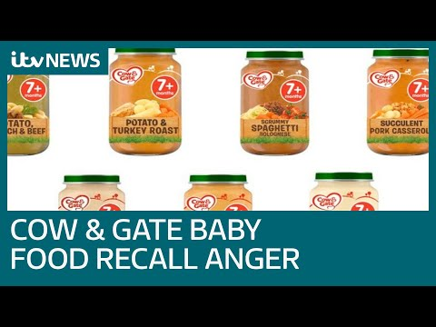 Parents concerned after Tesco Cow & Gate baby food jars recalled | ITV News