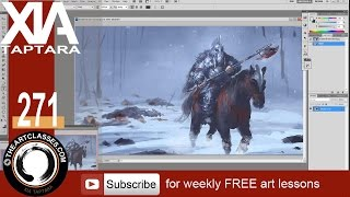Digital painting tutorial knight of axe preview