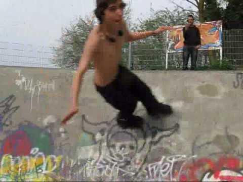 Skatevideo-nur zum Lachen
