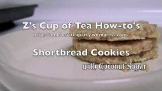 Gluten-free Shortbread Cookies, With Coconut Sugar