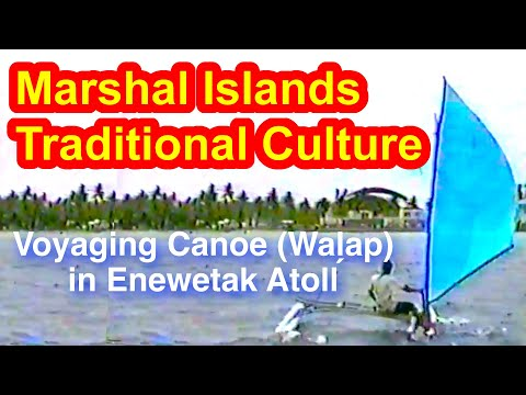 Marshallese Voyaging Canoe (Wal̗ap) in Enewetak Atoll