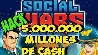 HACK PARA SOCIAL WARS | SEPTIEMBRE 2016 | 5.000.000 MILLONES DE CASH!