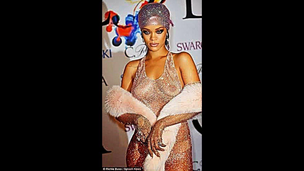 Rihanna see through cfda dress