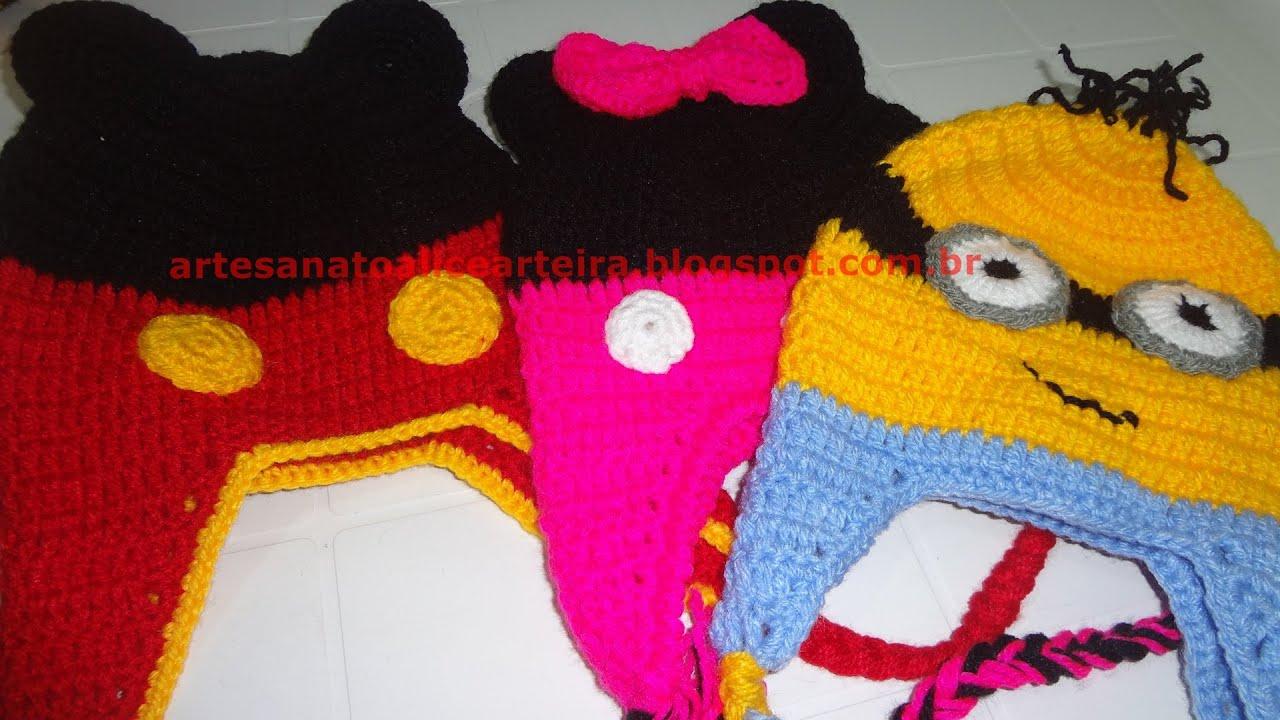 Gorro de Croche Masculino Homem 2 Parte Aprendendo Croch 783cf483760