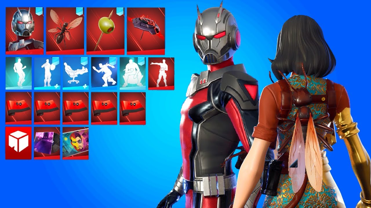 Fortnite ANT-MAN Skin, Ant-Tonio Back Bling and Toothpick Pickaxe showcase!..