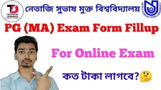 NSOU PG (MA) Exam Form Fillup 2020
