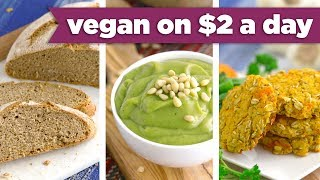 NEW Breakfast Lunch and Dinner Under $2! Easy Vegan Recipes! - Mind Over Munch
