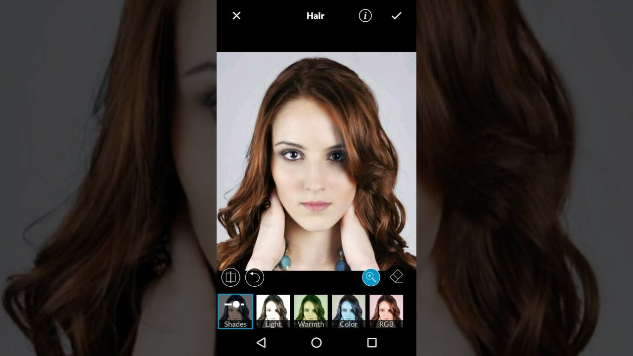 change hair color using