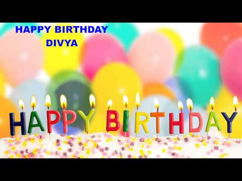 Divya - Birthday cakes - Happy Birthday