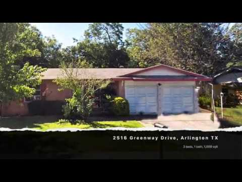 SOLD: 2516 Greenway Drive, Arlington TX 76010