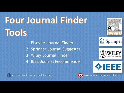 Four Tools For Finding A Journal For Your Research Article