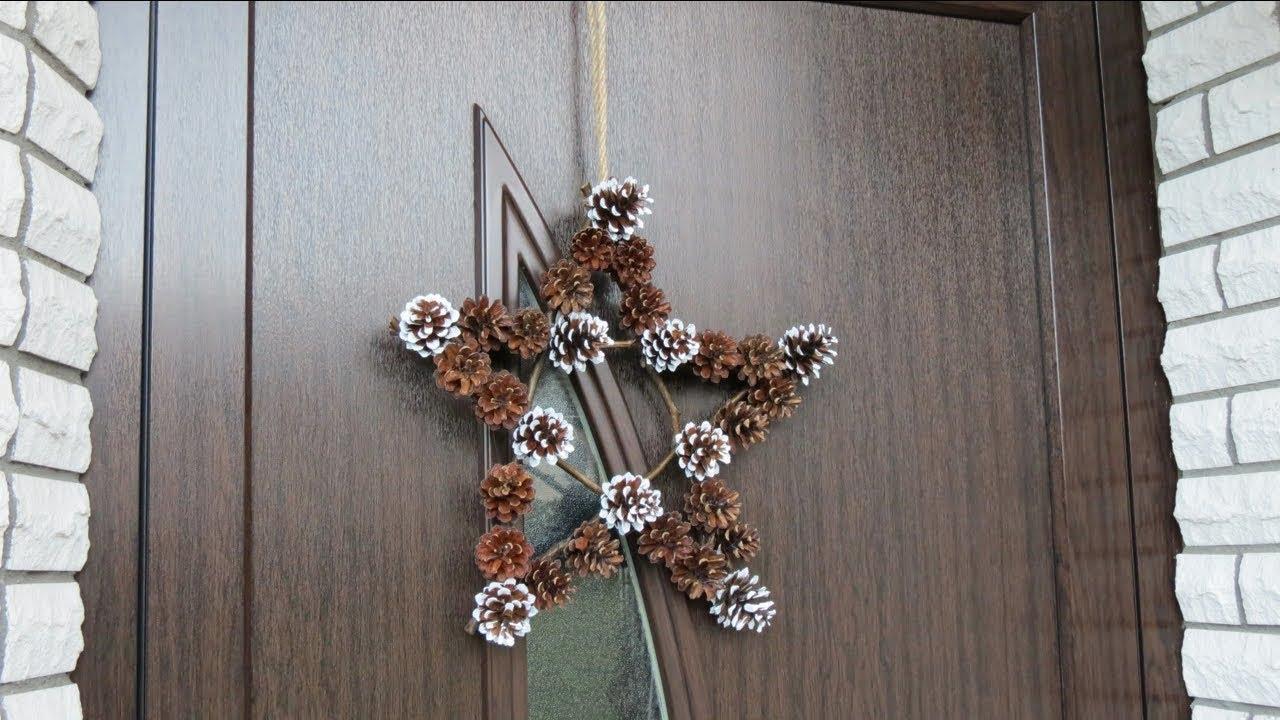 dekoration ideen f r weihnachten selber basteln t rkranz einfach und schnell youtube. Black Bedroom Furniture Sets. Home Design Ideas