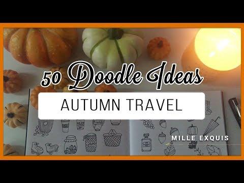 50 Bullet Journal Doodle Ideas! | AUTUMN FALL TRAVEL
