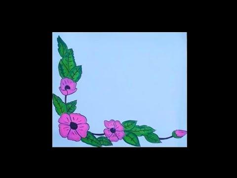 Flower Border Designs Flower Border Design For Projects Flower Border Design Drawing Youtube