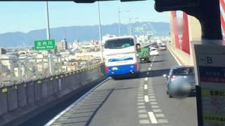 前面展望動画 高速バス (名鉄バス)名鉄バスセンター→富山方面