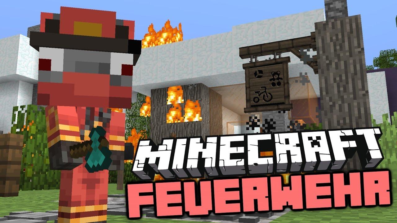 Minecraft Feuerwehr Der Erste Einsatz Rettung Starkes Team - Minecraft spiele filme auf deutsch