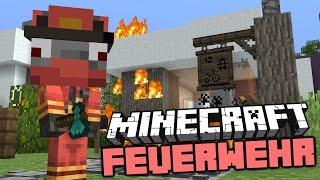 Minecraft Feuerwehr : Der Erste Einsatz - Rettung - Starkes Team - Minecraft Film Deutsch