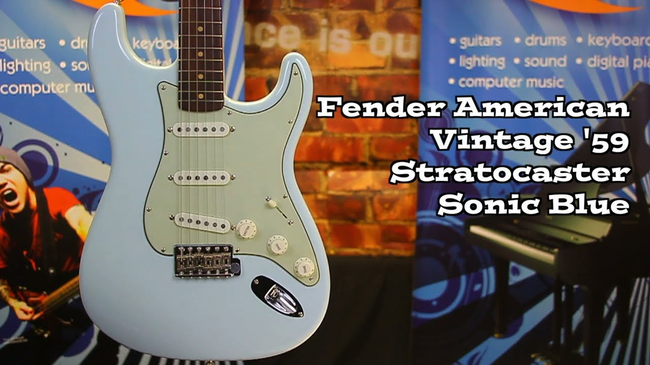 Fender American Vintage 59 Stratocaster In Sonic Blue