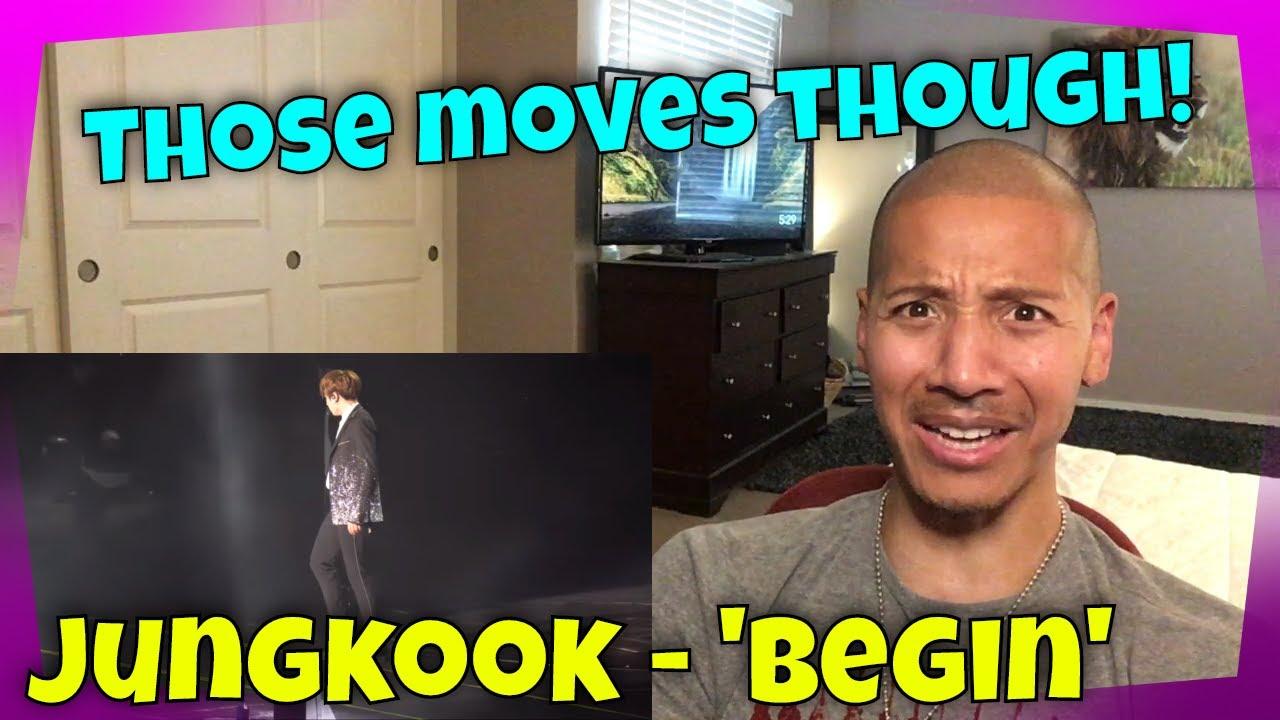 BTS Jungkook - 'BEGIN' Lyric Video and Wings Tour Newark REACTION