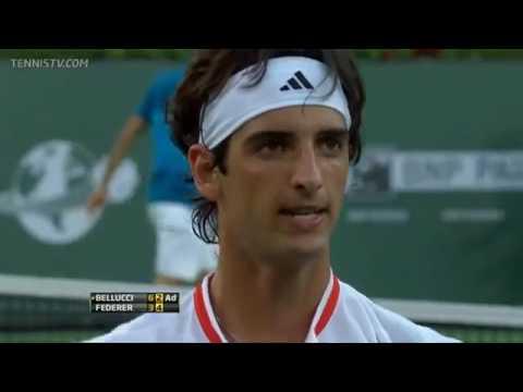 Roger Federer v. Thomaz Bellucci   Indian Wells 2012 R4 Highlights HD