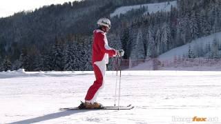 Skifahren Lernen | Erste Vorübungen im Flachen Gelände | Ski anschnallen | Stockschlaufe...