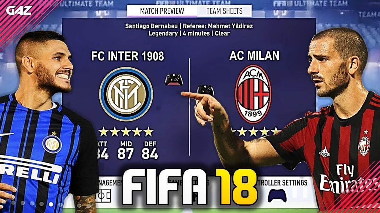 Milan vs inter in fifa 18 un derby pazzesco fifa 17 for Fifa 17 milan