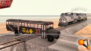 Railroad train accidents and crashes #10 BeamNG Drive