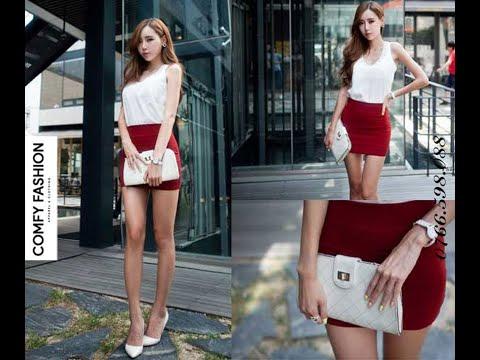 Chân váy ngắn ôm vải thun mềm