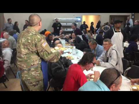 Las Vegas Rescue Mission feeds the homeless and the hungry on Thanksgiving eve