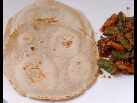 Jowar Ki Bhakri - roti of sorghum flour - By Vahchef @ Vahrehvah.com