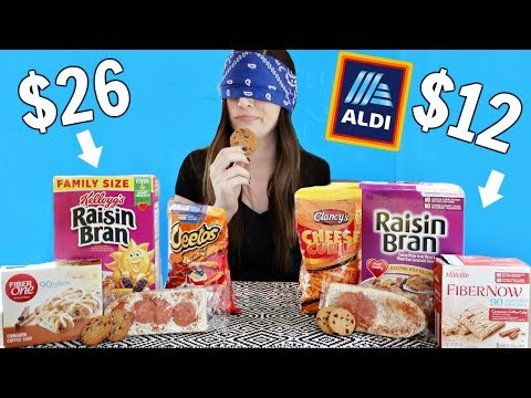 ALDI vs NAME BRAND FOOD (Blind Taste Test)