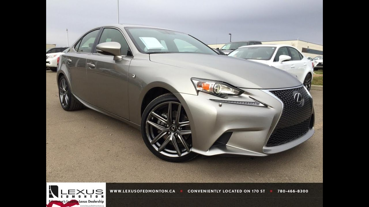 Lexus certified pre owned atomic silver 2014 is 250 premium f lexus certified pre owned atomic silver 2014 is 250 premium f sport auto awd review edson alberta youtube sciox Image collections