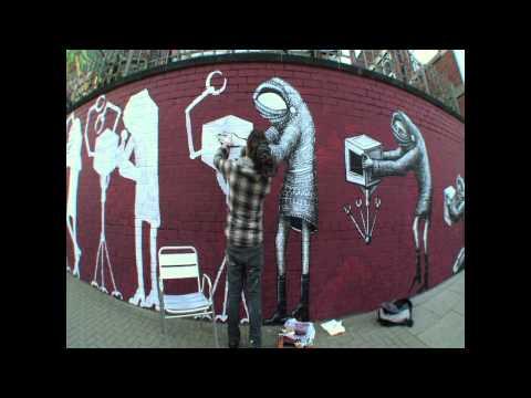 Street Art by Phlegm, Sheffield