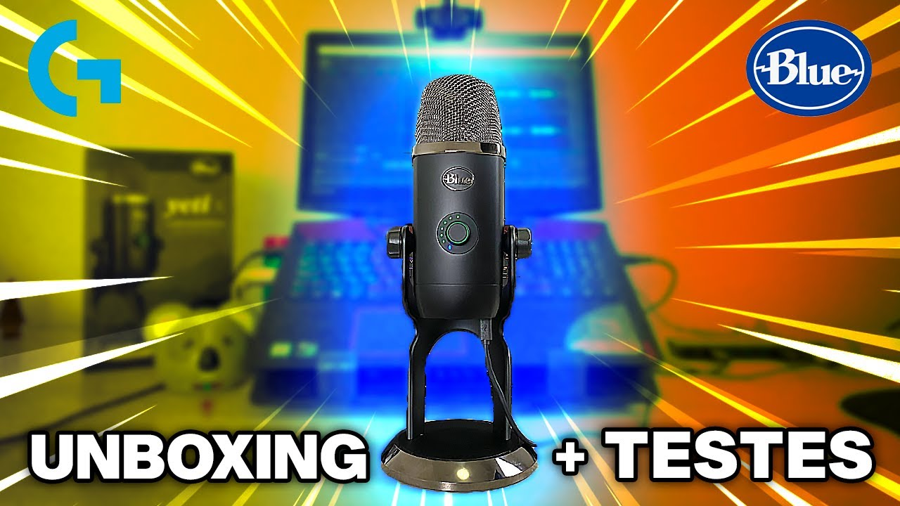 Microfone Blue Yeti X: Um Fenômeno para Gravar PODCASTS e Vídeos! (Unboxing + Testes) 🎙