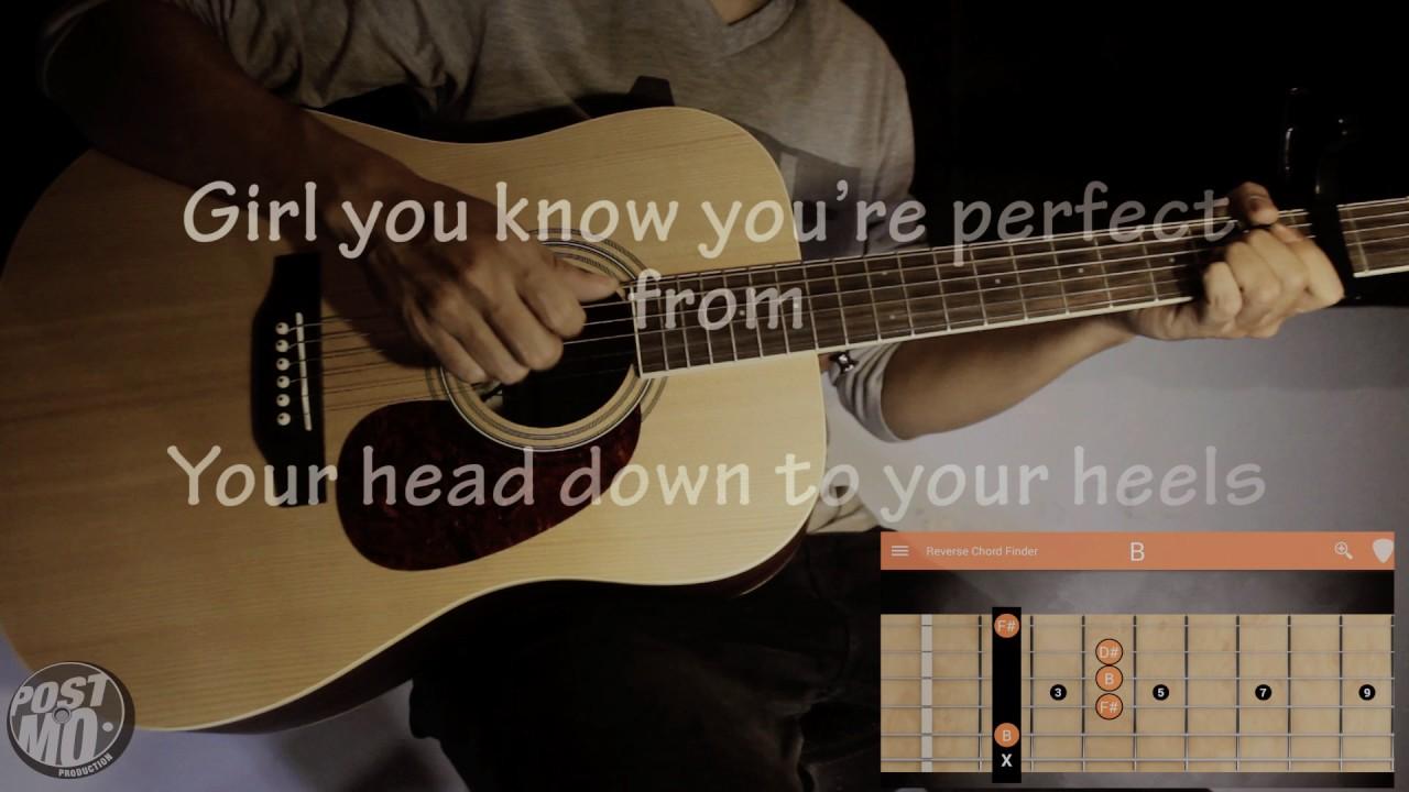 Versace On The Floor Bruno Mars Guitar Tutorial Cover Karaoke