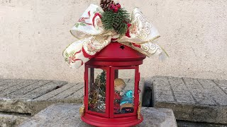 DIY: How to make Christmas decoration on a lantern TUTORIAL