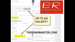 How to Check Your Reliance Jio Plan, Balance, Validity / Expiry Date Online Without Myjio App
