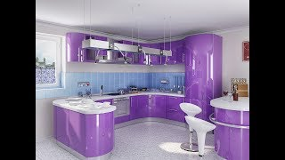 Дизайн Фиолетовой Кухни - 2018 / Design of Violet Kitchens / Design von violetten Küchen