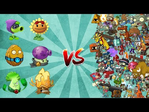 Plants vs Zombies 2 - Mod - Team Heroes vs All Zombies
