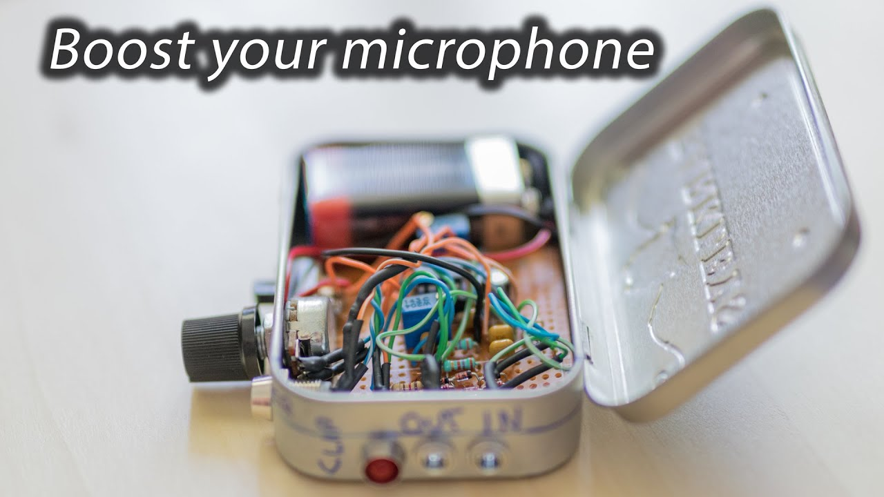DIY microphone preamplifier for external DLSR mic