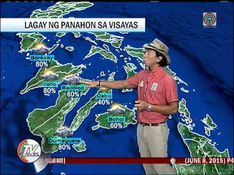 June 08, 2015 WEATHER WEATHER LANG - TV PATROL