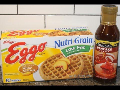 Walden Farms Pancake Syrup & Eggo Nutri Grain Low Fat Waffles Review