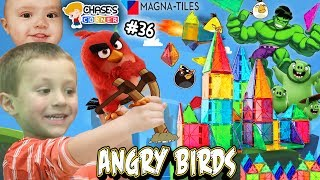 Chase's Corner: Magna Tiles with Angry Birds & Hulk (#36) | DOH MUCH FUN