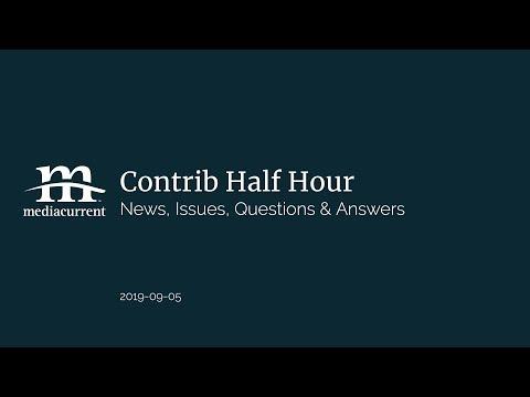 News, issues, Q&A; Contrib Half Hour, 2019-09-05 thumbnail
